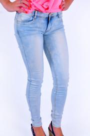 Spodnie jeansowe jasne cieniowane