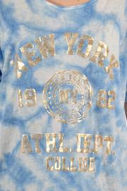 Bluzka cieniowana NEW YORK 1982 błękitna