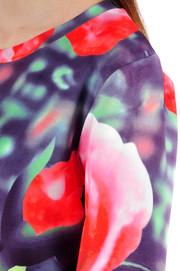 Bluza drukowana w róże S
