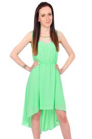 Sukienka ze złotą dżetową ozdobą zielona