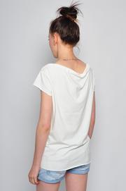 Bluzka tshirt BUTTERFLY SKULL kremowa