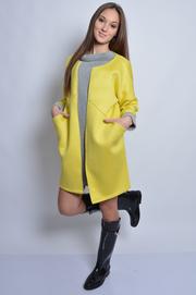 Włoski płaszczyk z pianki limonka