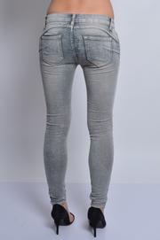 Spodnie jeans szare z pęknięciami S