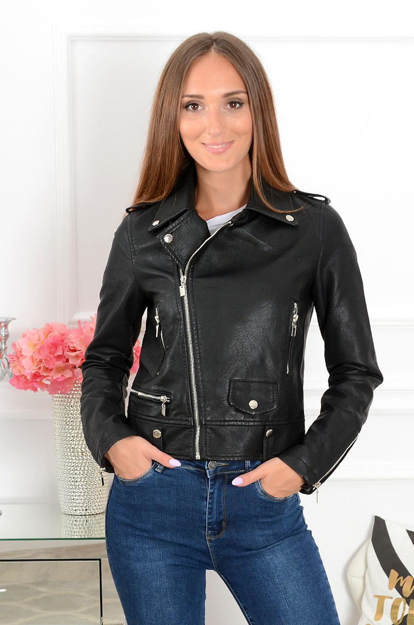 Čierna koženková bunda Royal Biker