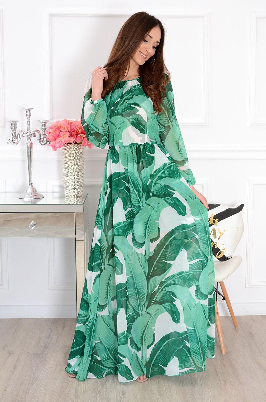 Luxusné zelené maxišaty Alisson