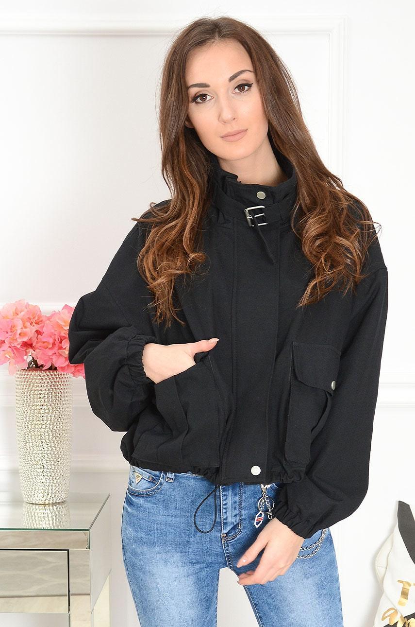 Čierna oversize bunda Sigal