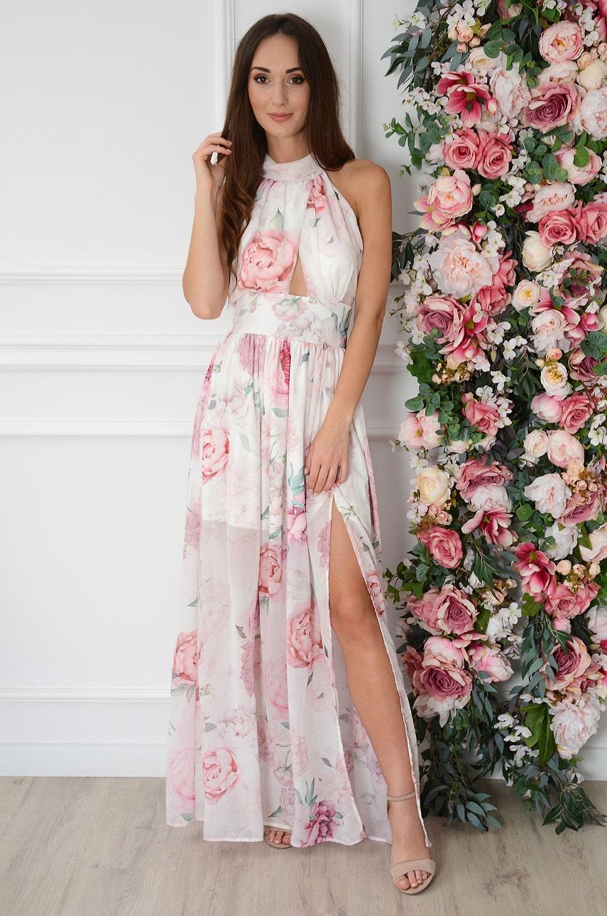 Letné maxi šaty s kvetmi Artemida
