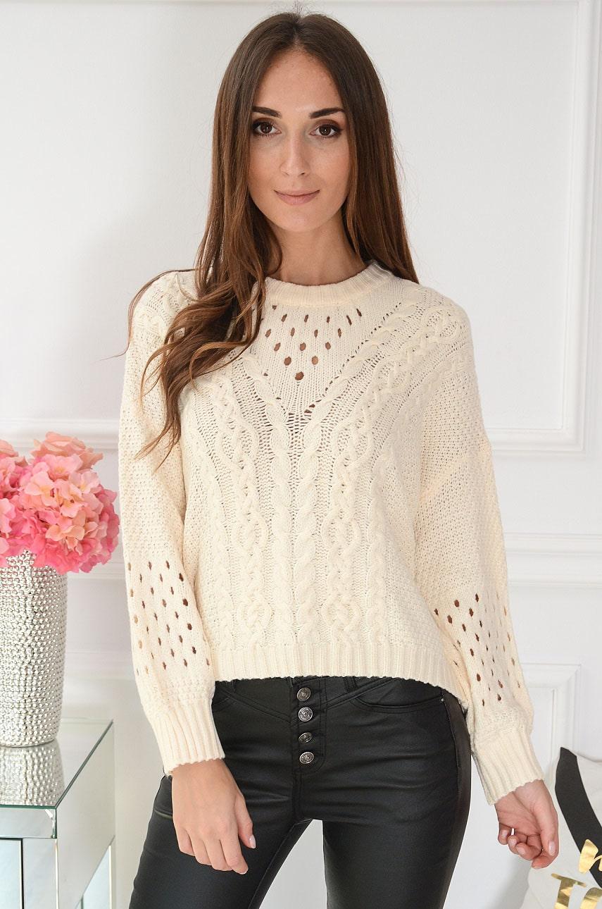 Béžový pletený sveter  Vilard