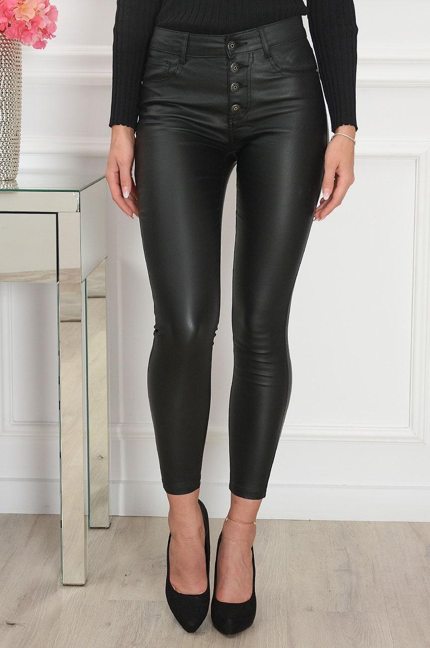 Čierne voskované nohavice Romme