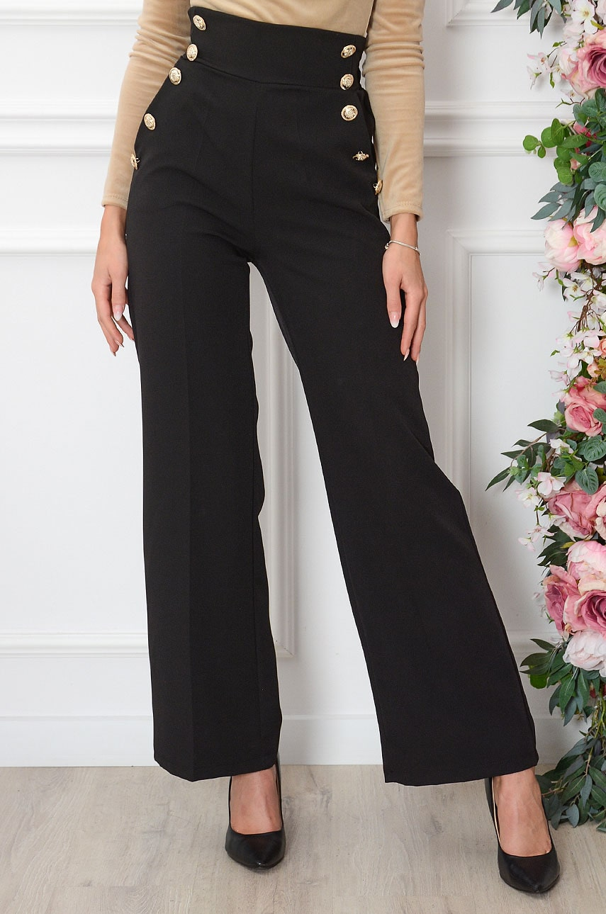 Čierne nohavice Uvea
