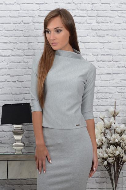 ab62c78a12ca9a Krótka bluzka Serene szary melanż - Cocomoda.pl - odzież dams...