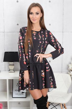2a1dfaed25 Sukienka Florella z falbaną w kwiaty ...
