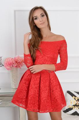 d97c49205f Sukienka koronkowa Scarlet 2 czerwona ...