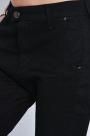 9f5dc0994e6a ... Spodnie bawełniane z wyższym stanem 7 8 czarne