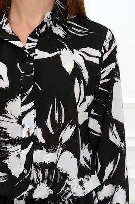ba7e9880fe ... Sukienka Loca z podwójną falbaną czarno-biała