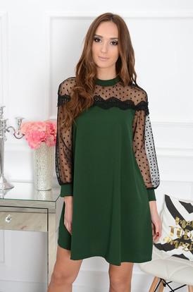 c57c3fb694 Sukienka z koronką Marica ciemna zieleń ...