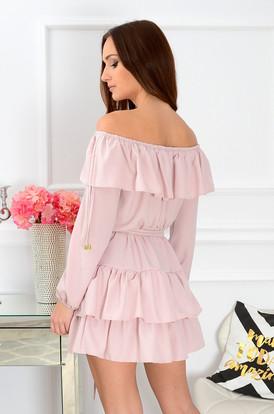 98cc8bc04e Sukienka hiszpanka Margo pudrowy róż Sukienka hiszpanka Margo pudrowy róż
