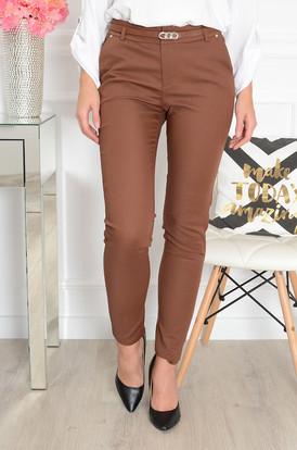 ff4320363ca1 Spodnie Freesia z mini blaszką kamel ...