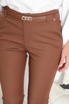98b09dd1d827 Spodnie Freesia z mini blaszką kamel Spodnie Freesia z mini blaszką kamel