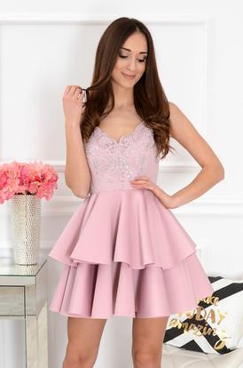 a6890e3416 Sukienki rozkloszowane eleganckie koronkowe Sklep cocomoda.pl 3