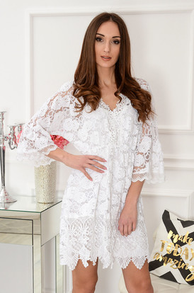 8acb06bab0d8 Sukienki z koronki z długim rękawem na wesele Sklep cocomoda.pl 2