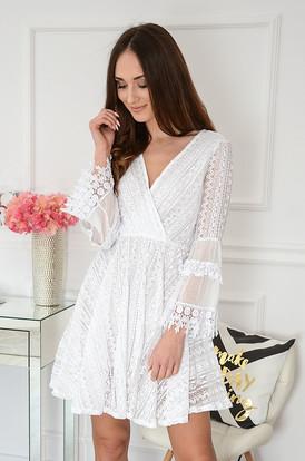 07f76826b4a6 Sukienka boho koronkowa kopertowy dekolt Julieta ...