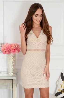 53a33c7253 Sukienki z koronki z długim rękawem na wesele Sklep cocomoda.pl