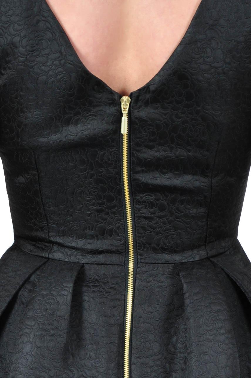 Sukienka żakardowa ze złotym suwakiem
