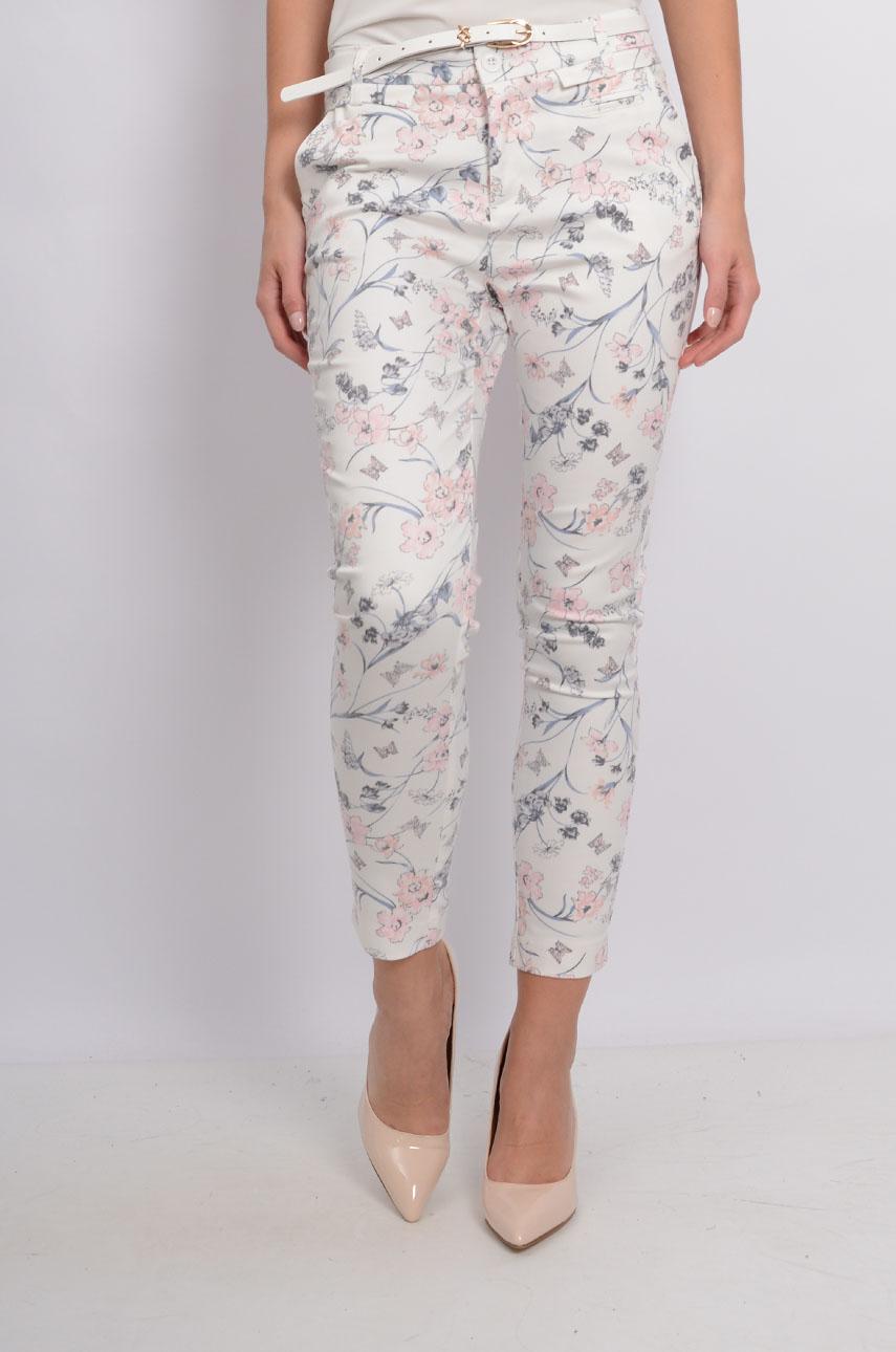 77a062f75145 Spodnie Freesia w kwiaty kremowo-pastelowe - Cocomoda.pl - od...