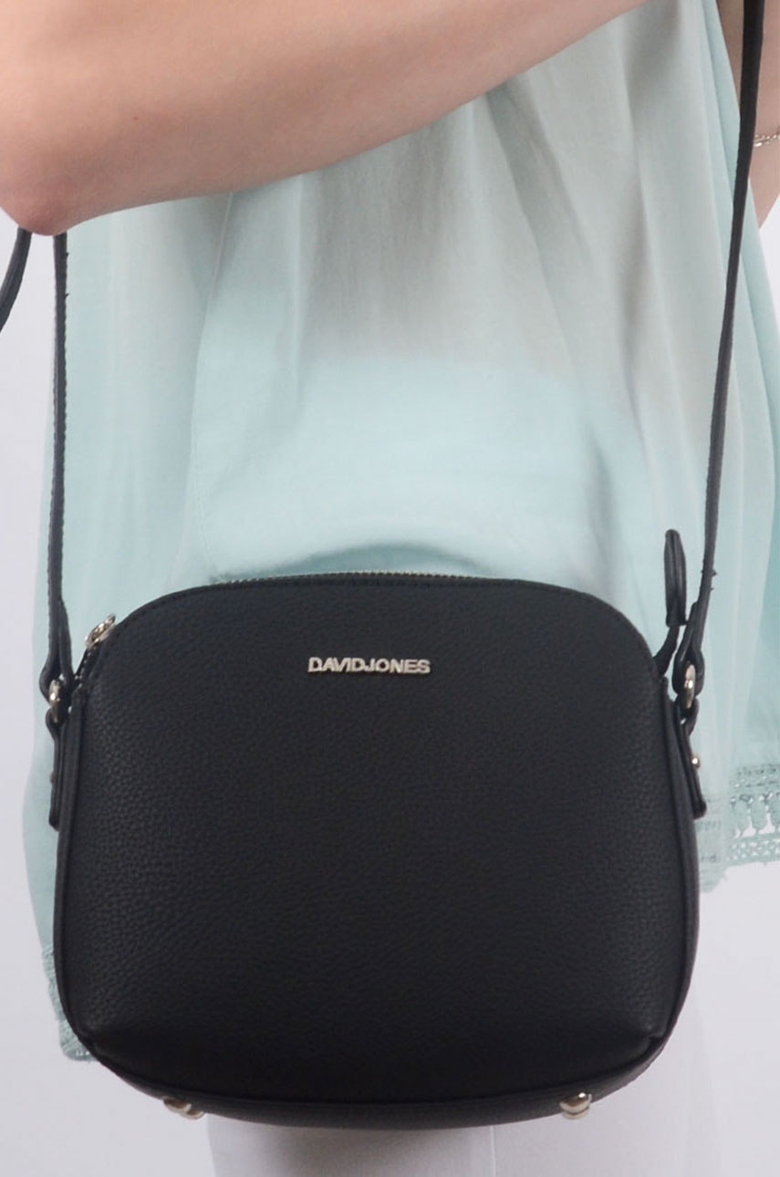 25a3098b3d03f Mała torebka trzy zamki czarna - Cocomoda.pl - odzież damska