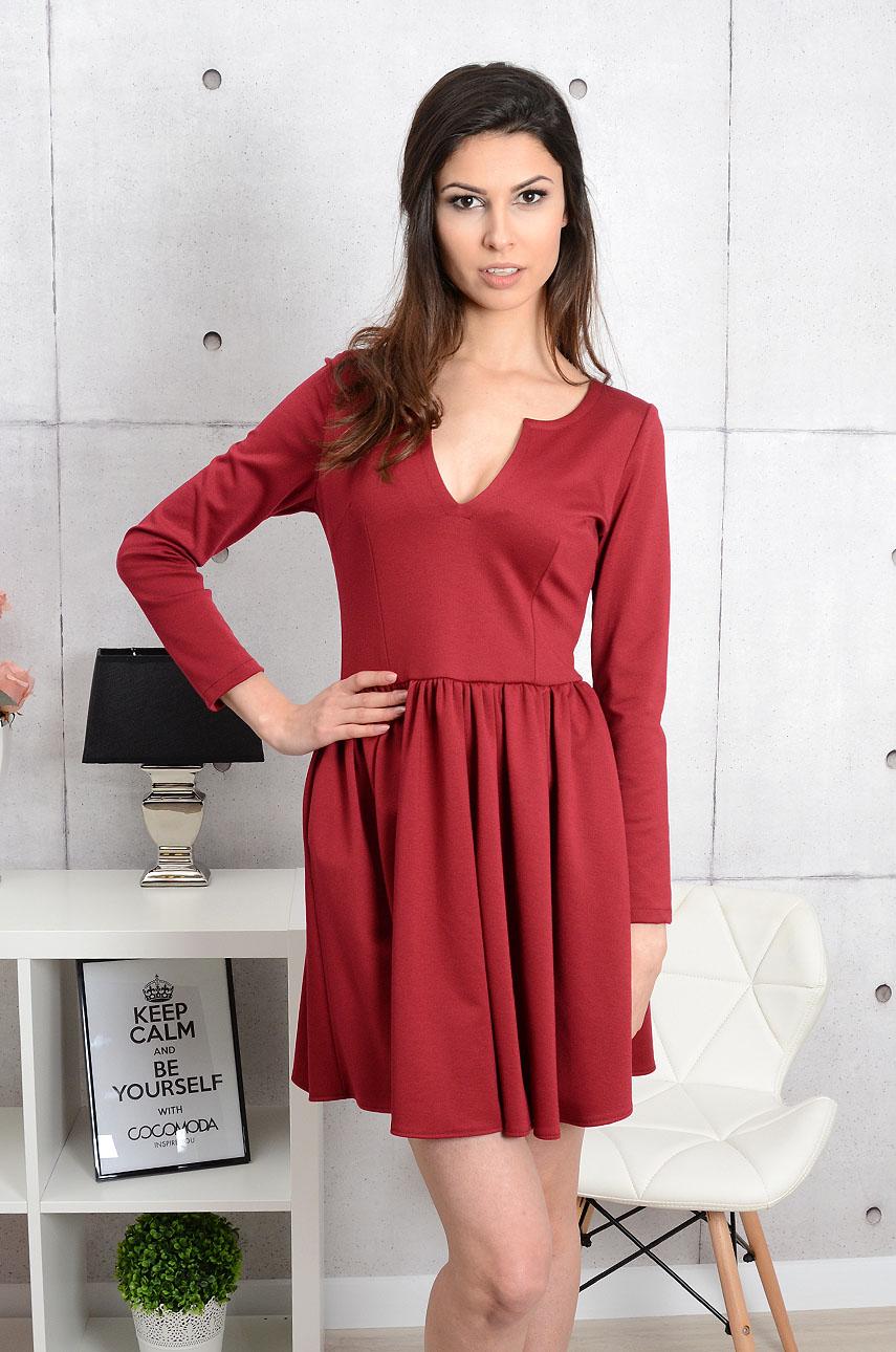Sukienka Catrina rozkloszowana burgund Rozmiar: M