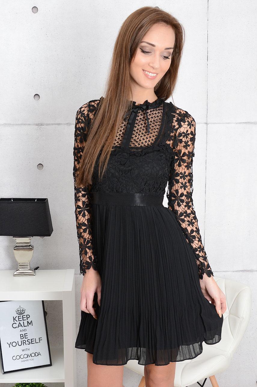 e04fc76f Sukienka koronkowa Sergita czarna