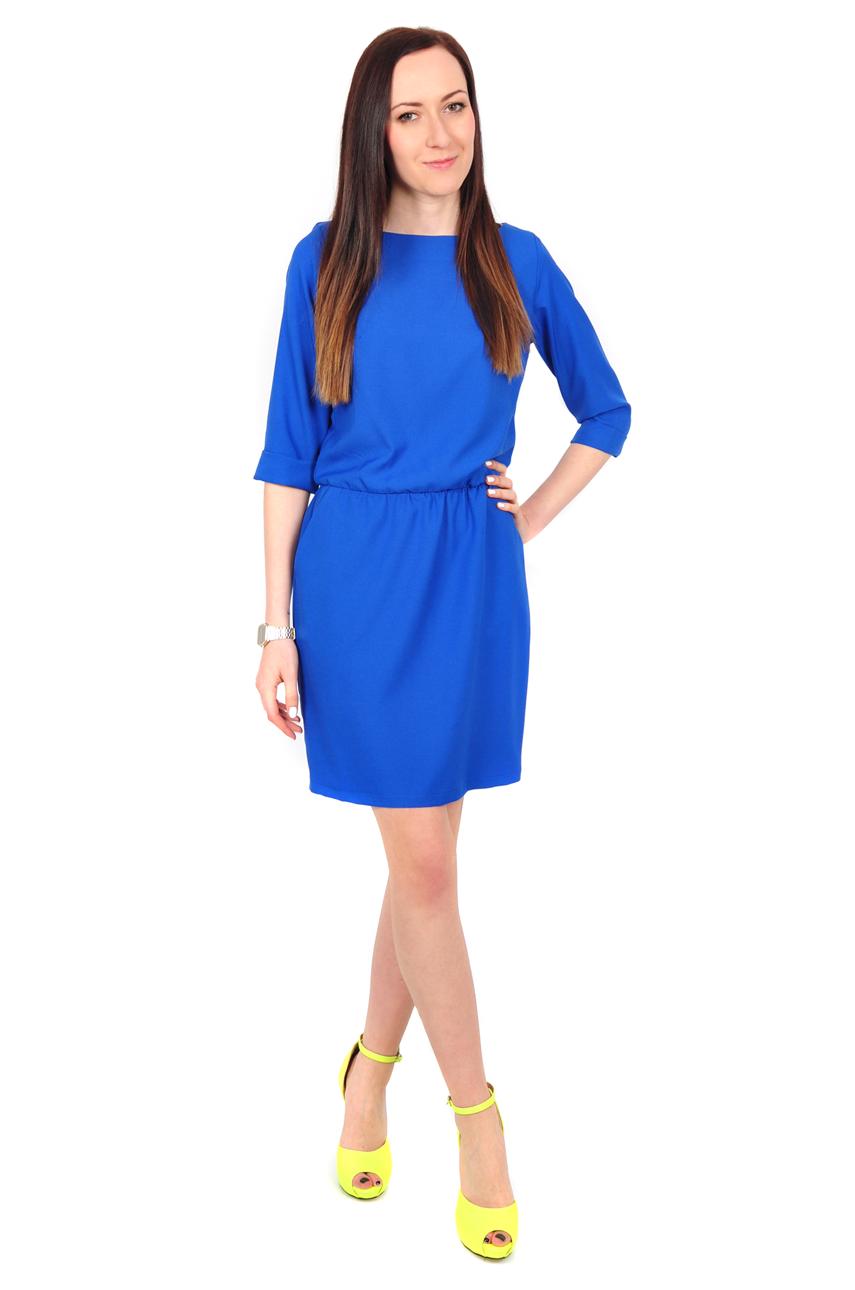 ecf86be7b7 Sukienka casual z kieszeniami kobalt - Cocomoda.pl - odzież d...