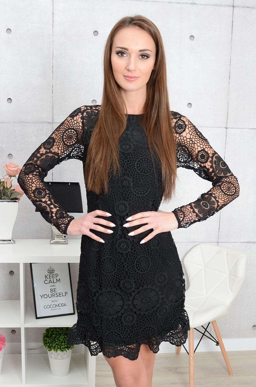 Sukienka koronkowa Raquela czarna Rozmiar: XS