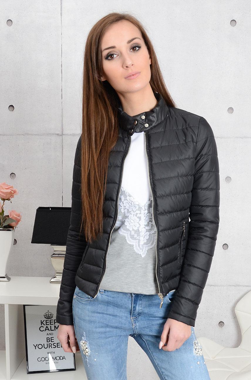 887e40d3b6e4d Kurtka pikowana Elegance czarna - Cocomoda.pl - odzież damska...