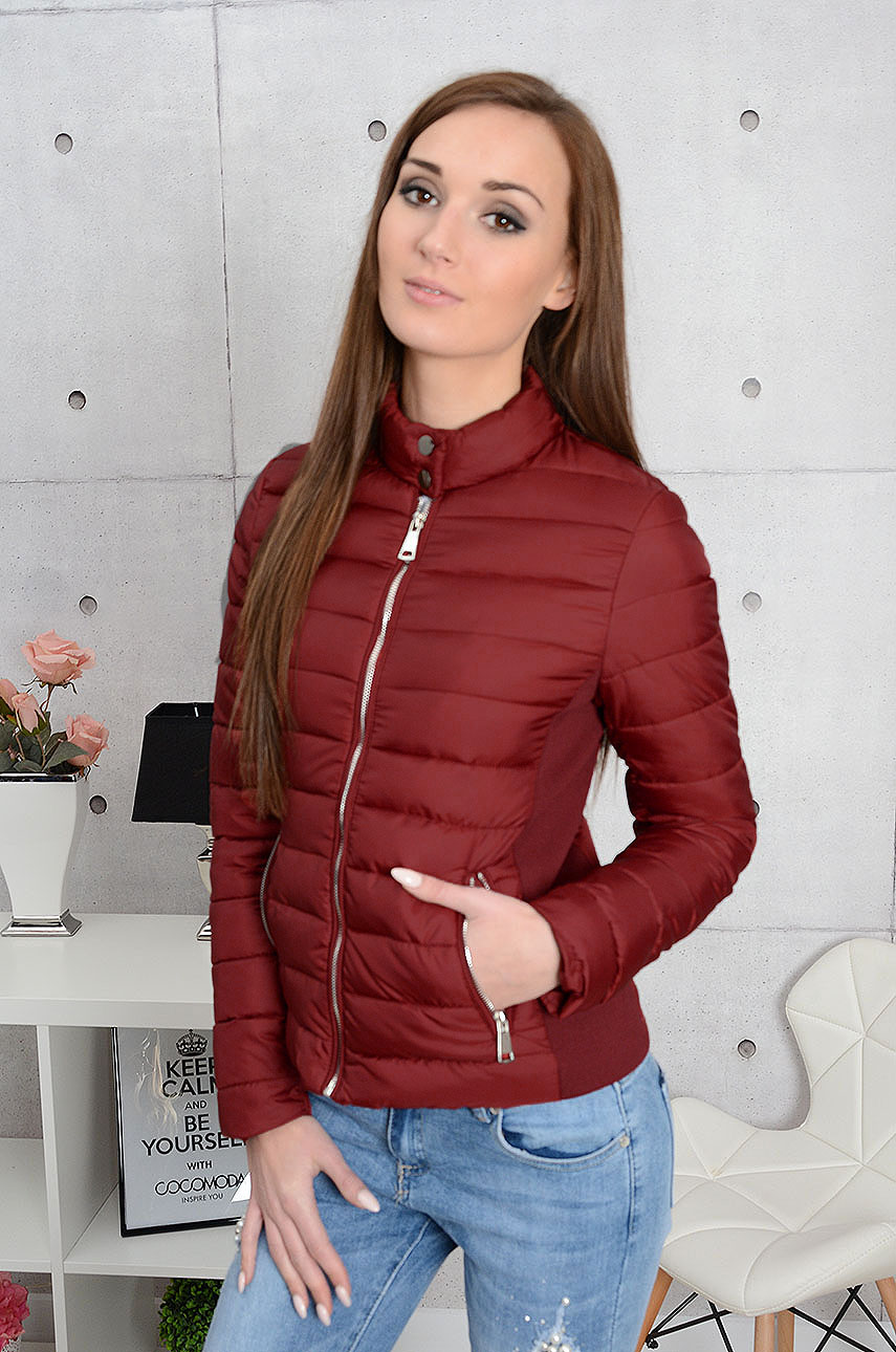 0a09320024fbc Kurtka pikowana Elegance burgund - Cocomoda.pl - odzież damsk...