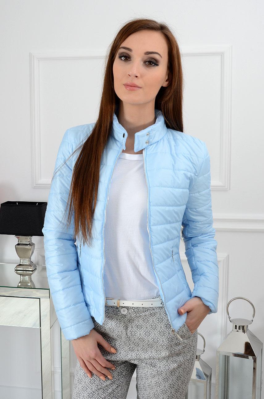69dfb6543f8a2 Kurtka pikowana Elegance błękitna - Cocomoda.pl - odzież dams...