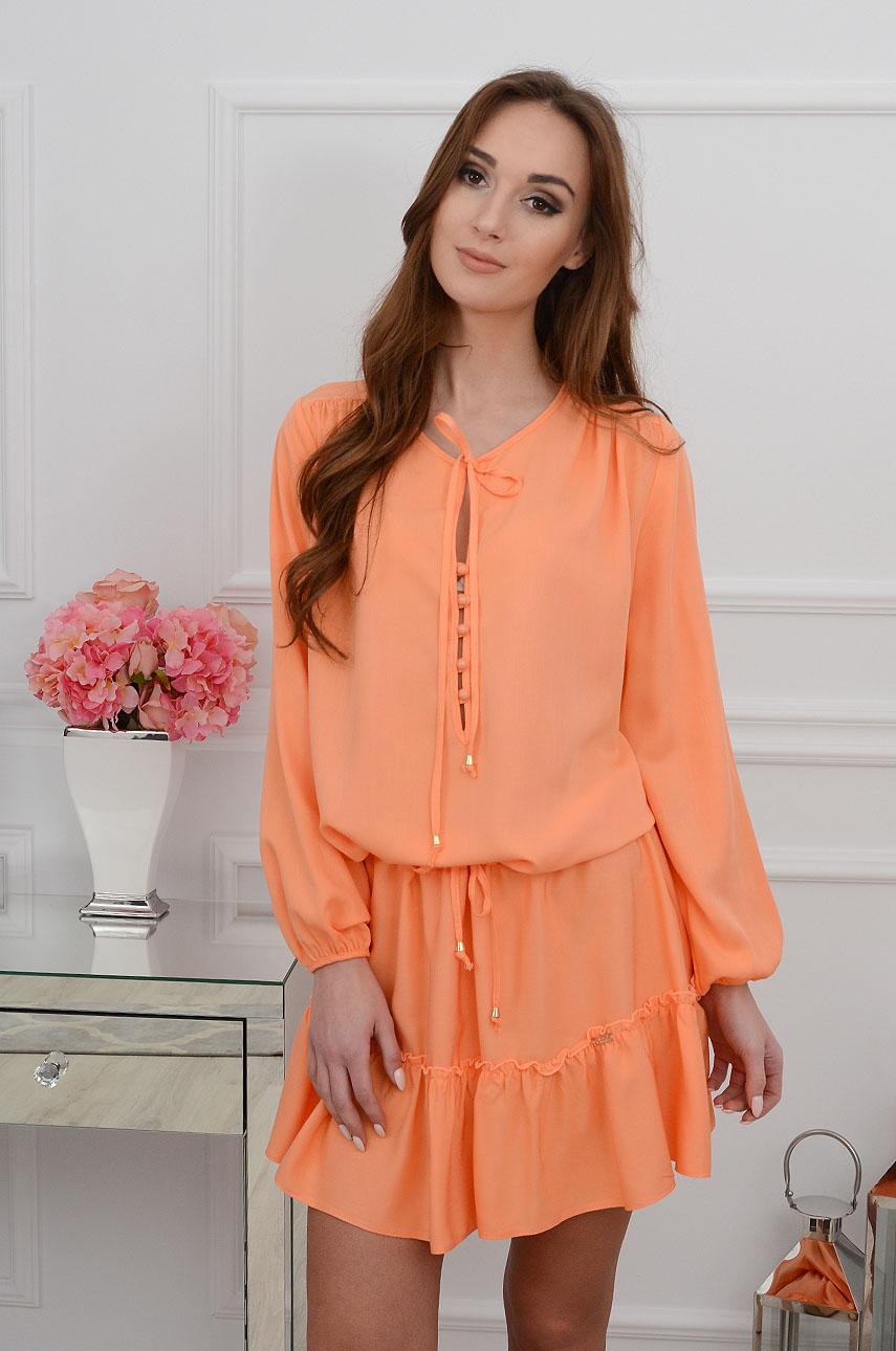 Sukienka Nadine boho pomarańczowa Rozmiar: UNI