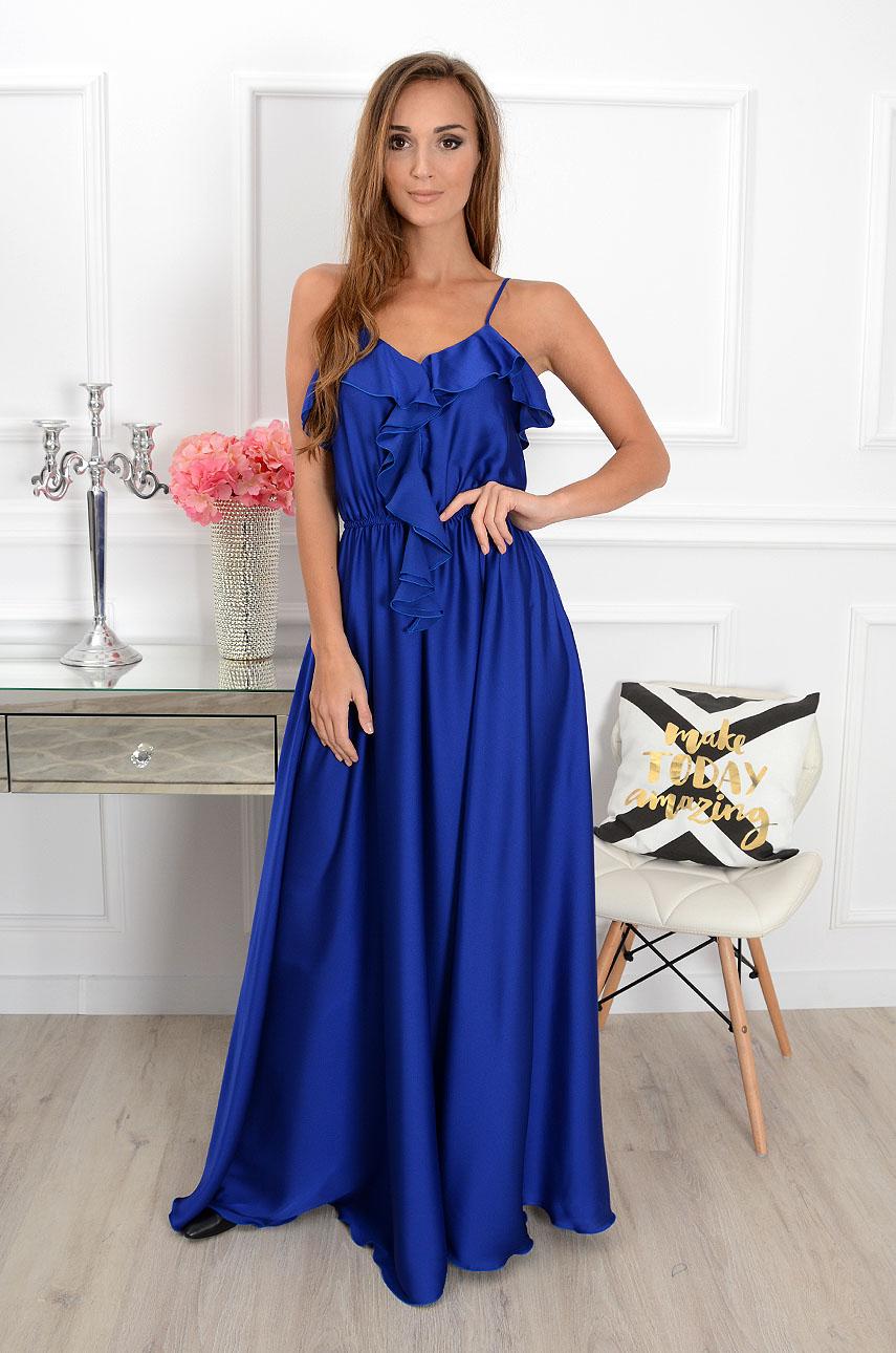 Sukienka maxi Melinda kobalt Rozmiar: M