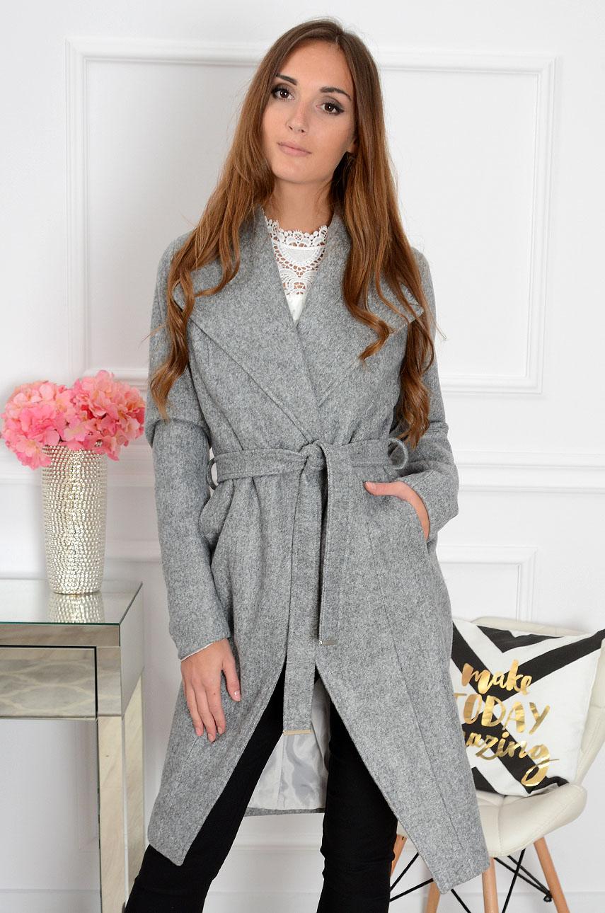 Elegancki płaszcz wełniany Hilton czarny