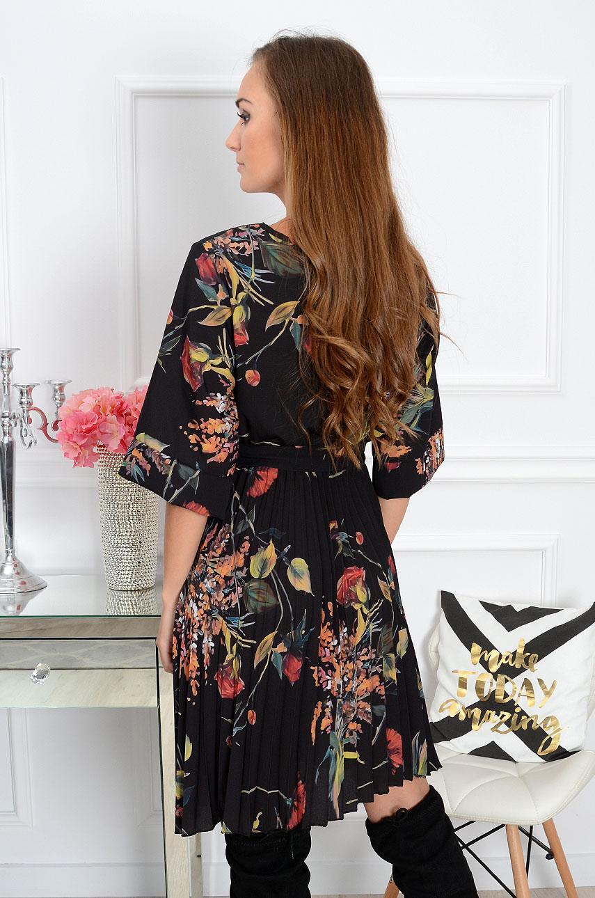 3c045f62f7 Sukienka plisowana czarna Sklep internetowy cocomoda.pl zaprasza