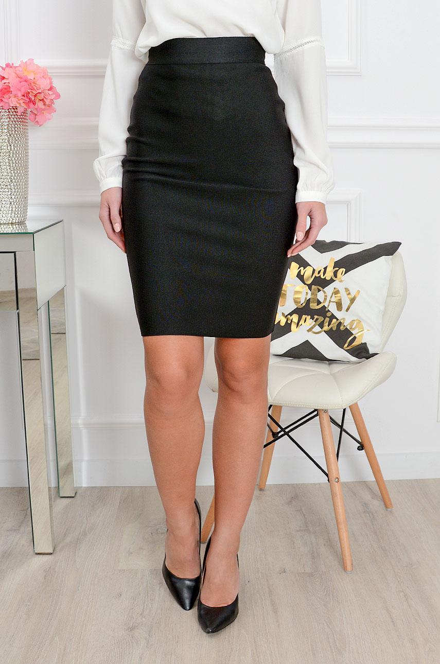Spódnica Z Długim Zamkiem Czarna Czarny | Abg | Spódnice
