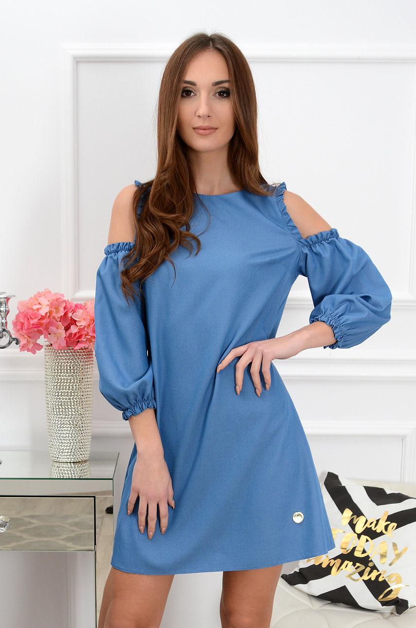 Sukienka gołe ramiona jeans Nastia Rozmiar: S