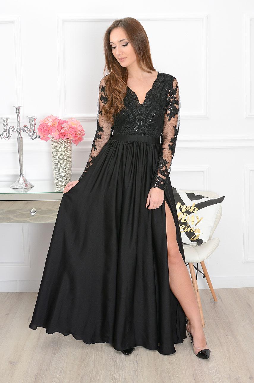 Sukienka maxi Athena długi rękaw czarna new Rozmiar: S