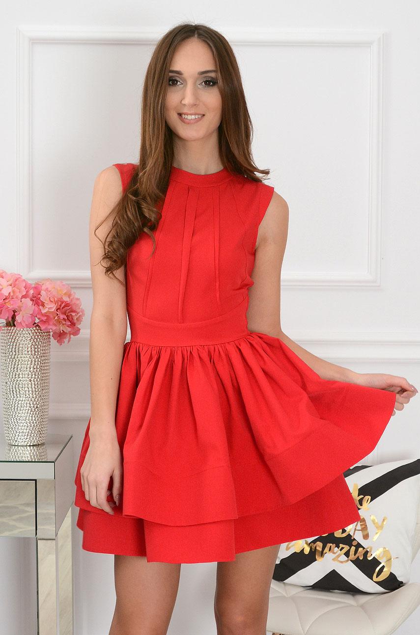 dbad264655 Sukienka rozkloszowana Vicky czerwona - Cocomoda.pl - odzież ...