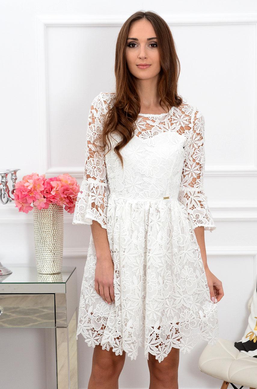 b2456fc8f1d5ae Sukienka koronkowa biała Sklep internetowy cocomoda.pl zaprasza