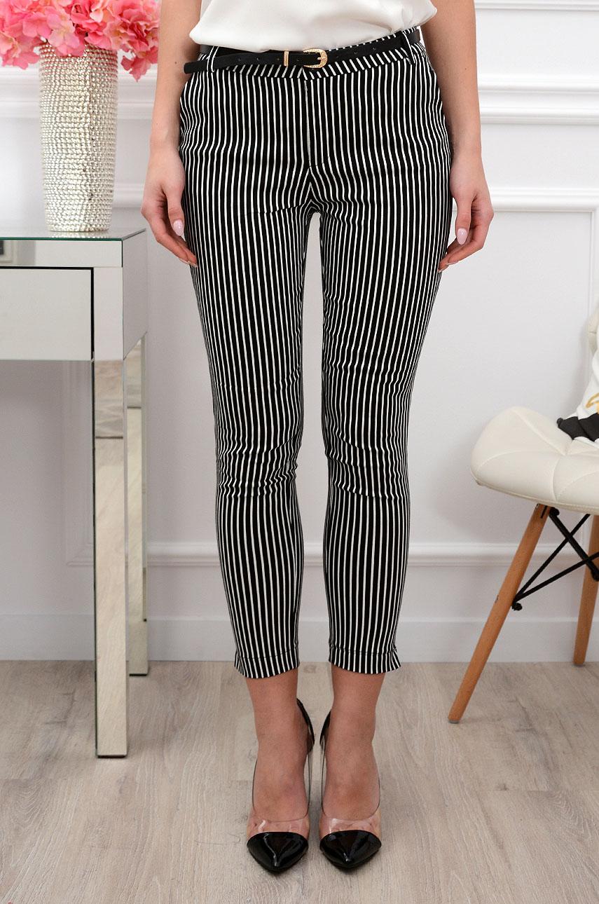 1cd2accc93 Spodnie Freesia w paski czarno-białe - Cocomoda.pl - odzież d...