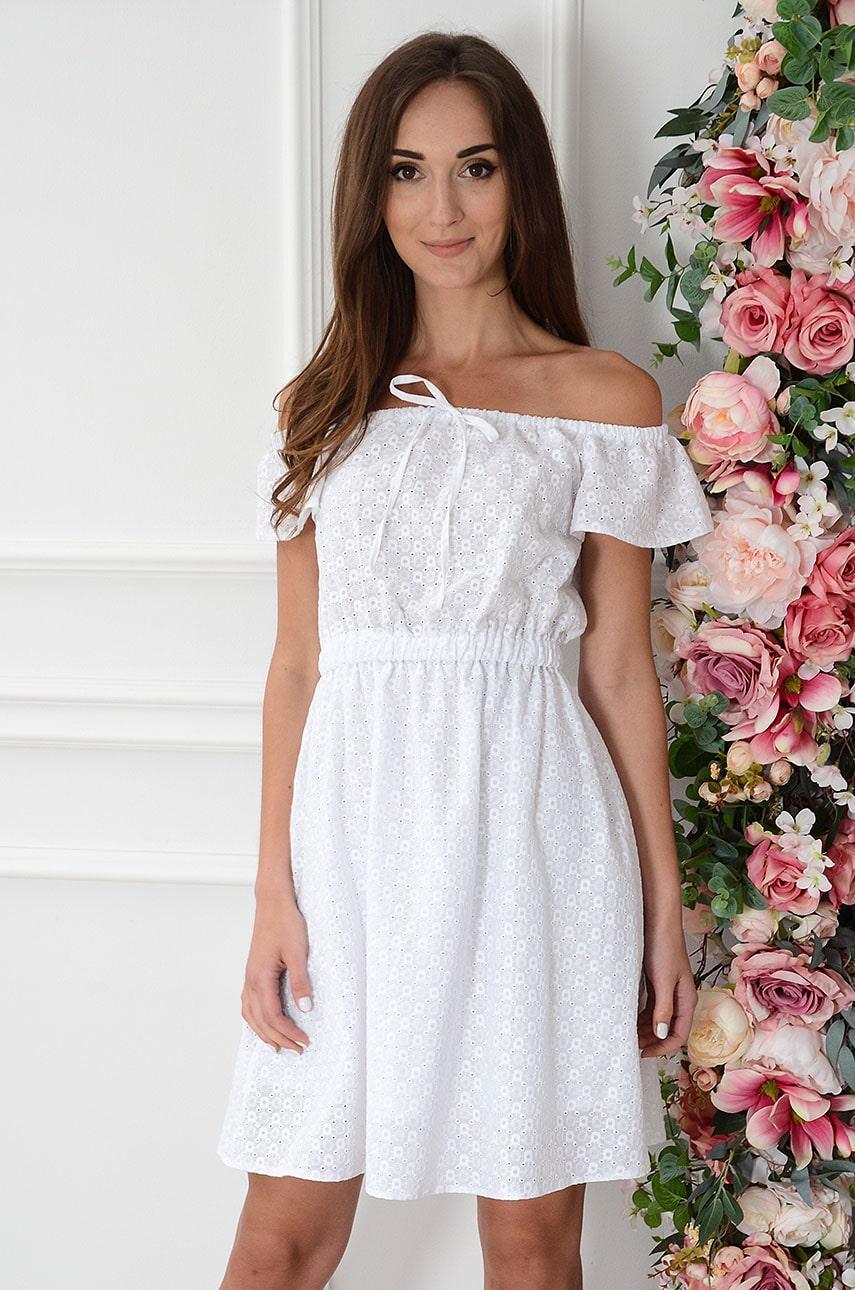 Sukienka hiszpanka haftowana biała Lavazza Rozmiar: XL