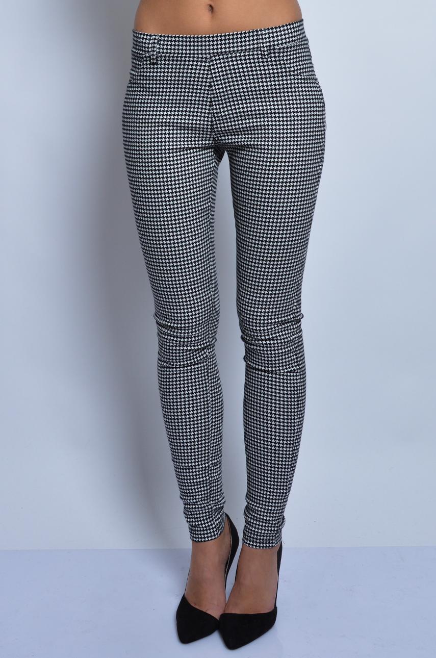Spodnie legginsy w pepitkę