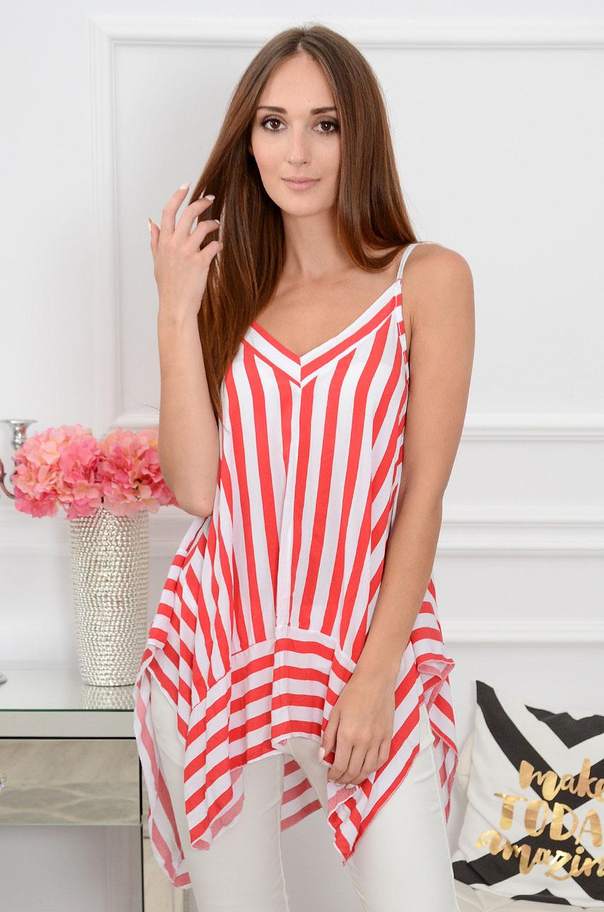 Bluzka top oversize w paski czerwone Mariposa Rozmiar: UNI